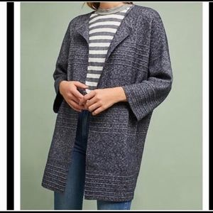 Michael Stars Navy Structured Sweater Coat